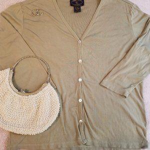 Charter Club Silk Button up Cardigan